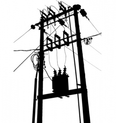 electric transformer substation vector image