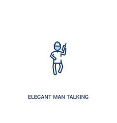 Elegant man talking through phone concept 2 vector