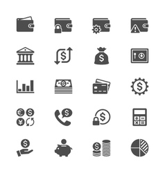 Financial management flat icons vector image