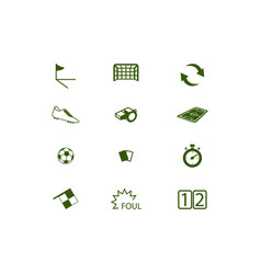 football or soccer equipments icon and symbol set vector image