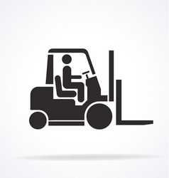 forklift stencil silhouette vector image