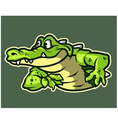 Funny gator cartoon logo mascot vector