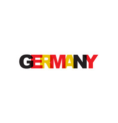 germany phrase overlap color no transparency vector image