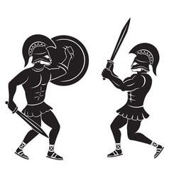 gladiators vector image