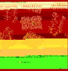 glitch colored background vector image