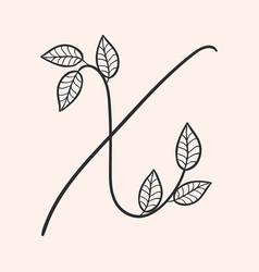 handwritten letter x monogram or logo brand vector image
