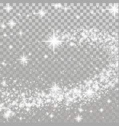 happy merry christmas shooting star transparent vector image