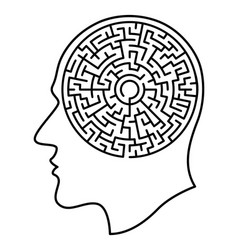 head and maze vector image