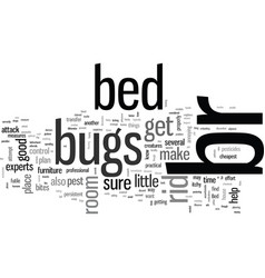 How to get rid bed bugs vector