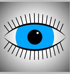 Icon cartoon blue eye vector