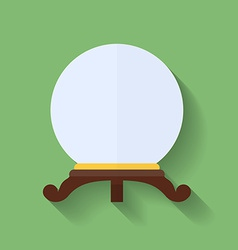 Icon of crystal ball or crystal sphere Flat style vector image