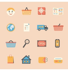 Internet shopping icons set vector image