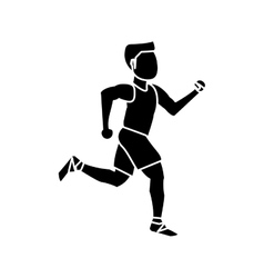 Isolated runner man design vector image