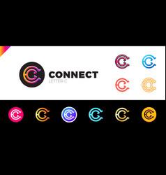 letter c logo icon design template elements set vector image