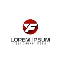 letter f modern logo circle design concept vector image
