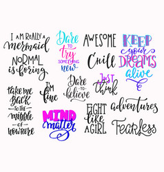 Lettering photography overlay set vector