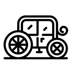 Luxury brougham icon outline style vector