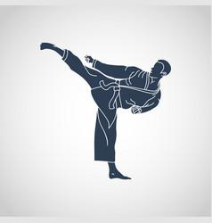 martial arts logo icon vector image