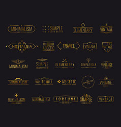 Modern golden luxury emblems for shopping tag vector