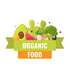 organic food banner natural vegetables vector image