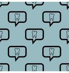 Pale blue tooth message pattern vector