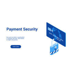 payment security 3d template 2 vector image