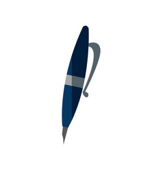 pen writing object ink tool icon vector image