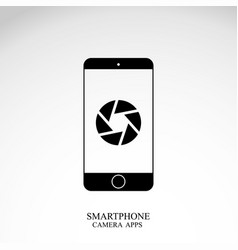 phone icon on white background vector image