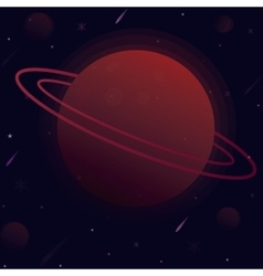 planet with the sphere of vector image