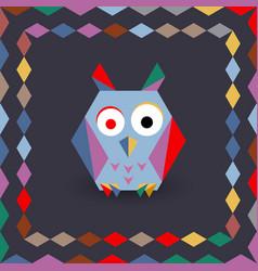polygonal origami owl vector image