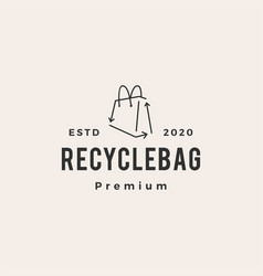 recycle bag hipster vintage logo icon vector image