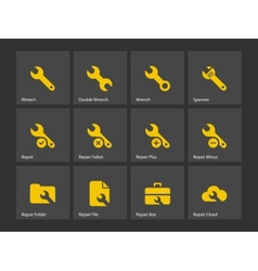 Repair Wrench icons vector image