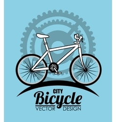 Ride a bike vector image