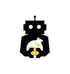 robot lab laboratory cyborg automatic negative vector image