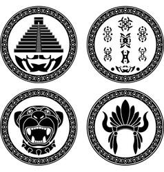 Set mayan signs vector