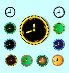 set of clock design and decoration elements vector image