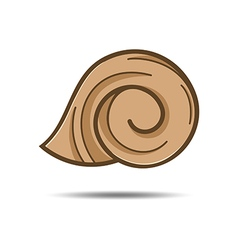 Snail shell logo template vector