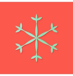 Snowflake Christmas Flat Icon vector image