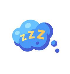 Speech bubble with zzz sleep flat icon vector