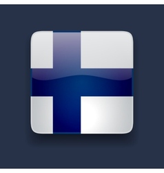 Square icon with flag of Finland vector image