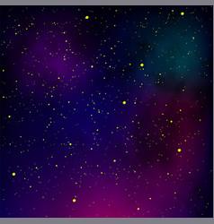 Starry night pattern star sky background nebula vector
