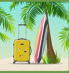 summer holidays travel vector image