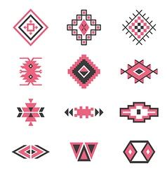 Symbols tribal design Ethnic motif Boho vector