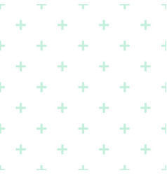 Tile cross plus mint green and white pattern vector