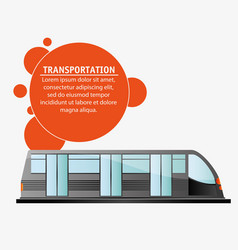 transport public electric train design vector image