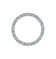 two circles binary circuits future technology vector image