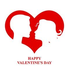 valentine couple vector image