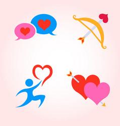 Valentine day icons set vector