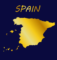 with geographical map spain vector image