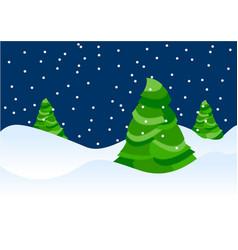 xmas trees vector image